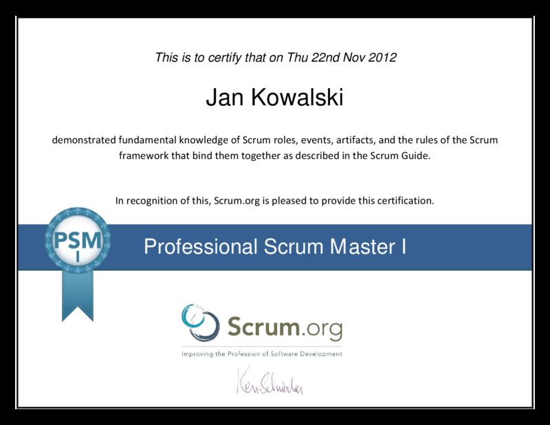 Professional Scrum Masters I